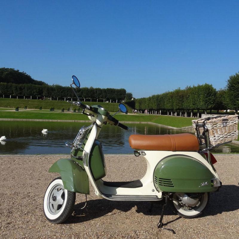 Scooter au château de Villandry